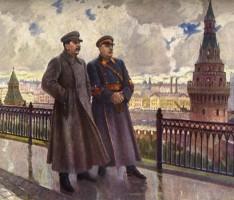 Сталин и Ворошилов в Кремле